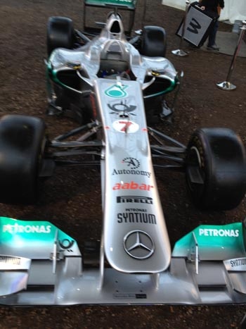 Schumacher's 2011 F1 car