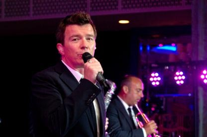 Rick Astley at The Shooting Star Ball